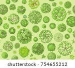 seamless pattern. forest top... | Shutterstock .eps vector #754655212