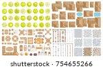 vector set. architectural... | Shutterstock .eps vector #754655266