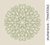 elegant vintage graceful... | Shutterstock .eps vector #754655362