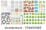 set of landscape elements.... | Shutterstock .eps vector #754655485