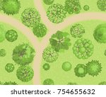 seamless pattern. forest top... | Shutterstock .eps vector #754655632