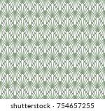 vector floral art nouveau... | Shutterstock .eps vector #754657255