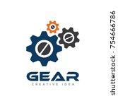 gear logo vector | Shutterstock .eps vector #754666786