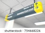 a ceiling mounted hospital... | Shutterstock . vector #754668226