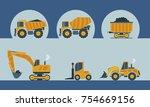 construction icons vector | Shutterstock .eps vector #754669156