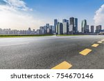 panoramic skyline and buildings ... | Shutterstock . vector #754670146