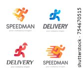 set of vector logo design for... | Shutterstock .eps vector #754670515