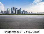 panoramic skyline and buildings ... | Shutterstock . vector #754670836