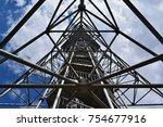 metal constructruction under... | Shutterstock . vector #754677916