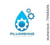 plumbing logo vector | Shutterstock .eps vector #754682656