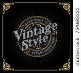 vintage luxury banner template... | Shutterstock .eps vector #754683232