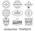 vector black on white sea... | Shutterstock .eps vector #754690672