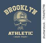 vintage urban typography  t... | Shutterstock .eps vector #754690798