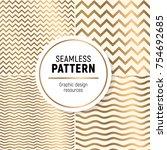 luxurious seamless pattern... | Shutterstock .eps vector #754692685