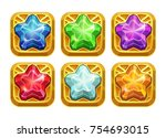 golden amulets with colorful...