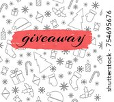 giveaway vector card with... | Shutterstock .eps vector #754695676