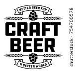 Craft Beer Badge Or Label....