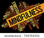 mindfulness word cloud collage  ... | Shutterstock . vector #754701922