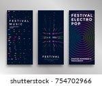 electronic music festival... | Shutterstock .eps vector #754702966