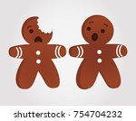 Funny Gingerbread Men Bitten....