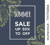 summer sale background with... | Shutterstock .eps vector #754706866