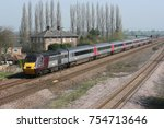 Small photo of Cross Country Trains Class 43 HST number 43301 heads southbound at Bolton Percy, Yorkshire, UK - 10th April 2010