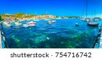 seafront view at summer... | Shutterstock . vector #754716742