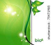 ecology green background | Shutterstock . vector #75471985
