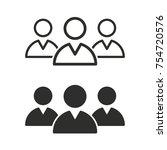 people vector icons set. black...   Shutterstock .eps vector #754720576