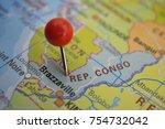 pin in republic of congo | Shutterstock . vector #754732042
