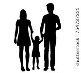 vector silhouette of a family ... | Shutterstock .eps vector #754737325