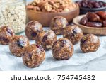 healthy homemade energy balls... | Shutterstock . vector #754745482