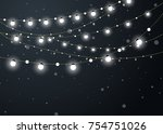 christmas background with xmas... | Shutterstock .eps vector #754751026