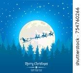 vector christmas background...   Shutterstock .eps vector #754760266