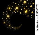 circular stream of sparkling... | Shutterstock .eps vector #754763752