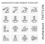 manufacture robot and... | Shutterstock .eps vector #754771156