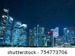 singapore   nov 3 17  night... | Shutterstock . vector #754773706
