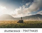 travel concept of a journey to...   Shutterstock . vector #754774435