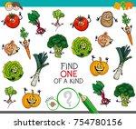 cartoon illustration of find... | Shutterstock . vector #754780156