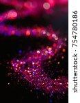 multicolor glitter on black... | Shutterstock . vector #754780186