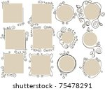 doodle frames collection   Shutterstock .eps vector #75478291