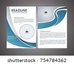 vector modern brochure design... | Shutterstock .eps vector #754784362