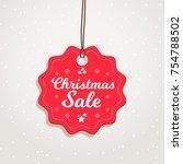 christmas sale badge | Shutterstock .eps vector #754788502