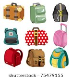 cartoon bag icon | Shutterstock .eps vector #75479155