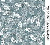 seamless leaf pattern | Shutterstock .eps vector #75479467
