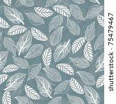 seamless leaf pattern | Shutterstock .eps vector #75479467