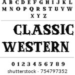 classic western   vintage... | Shutterstock .eps vector #754797352