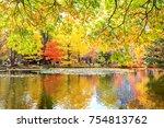 autum in hokkaido  japan | Shutterstock . vector #754813762
