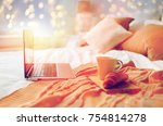 technology  holidays  christmas ... | Shutterstock . vector #754814278