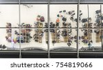 reflection glass of top view... | Shutterstock . vector #754819066